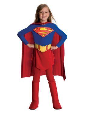 Supergirl Cape Dress DC Comics Superhero Fancy Dress Up Halloween Adult Costume