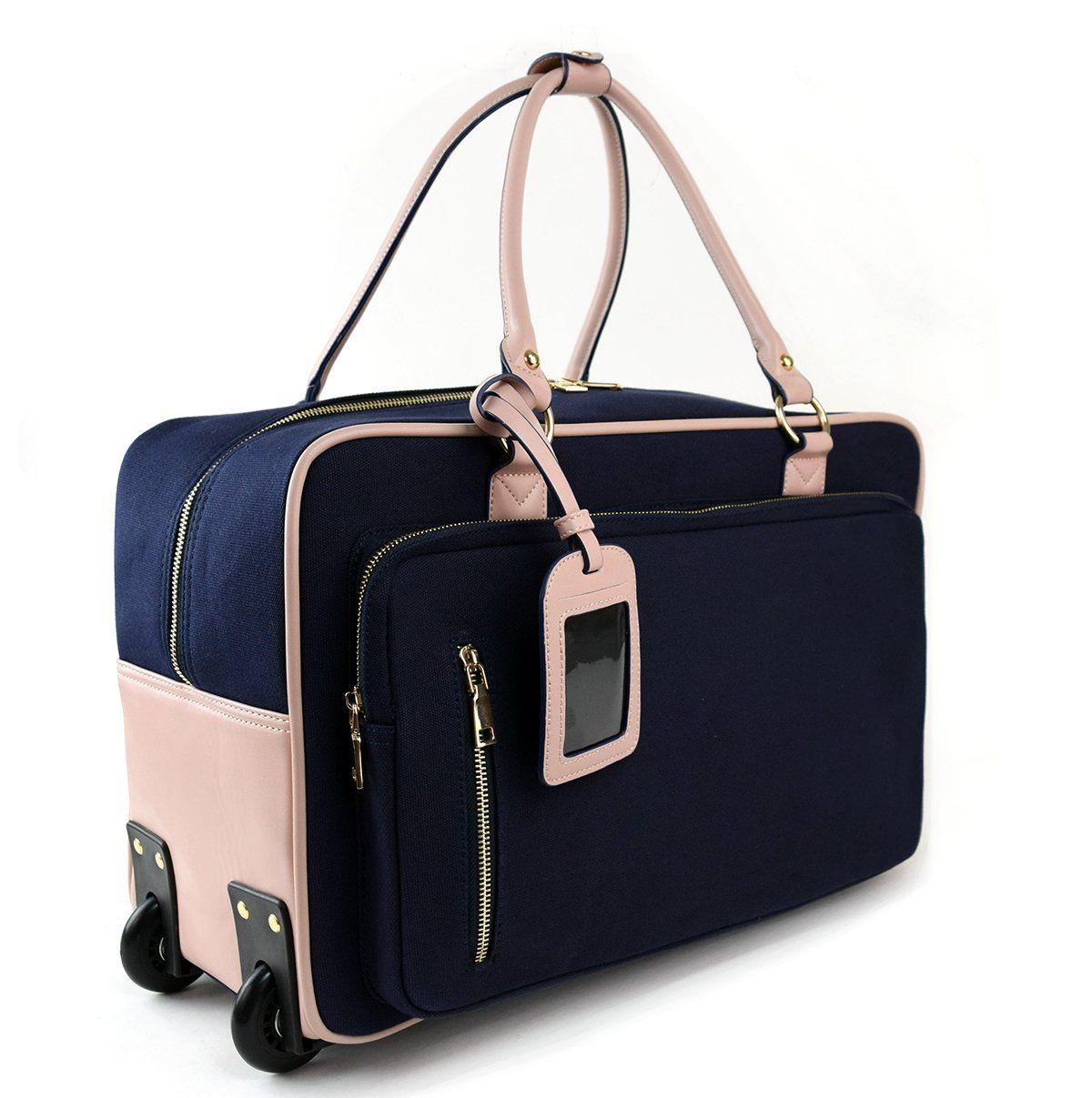 Womens Travel Duffel Overnight Carry On Weekend Bag w Wheels ...