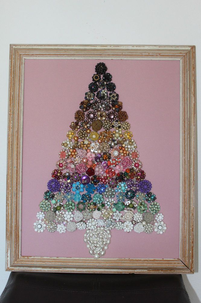 Ebay 350 New In Collectibles Holiday Seasonal Christmas Modern 1946 90 Jewelry Christmas Tree Jeweled Christmas Trees Christmas Tree Art