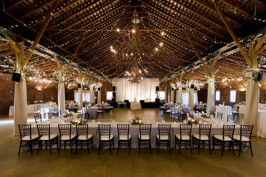 Gorgeous Rustic Reception Setting Raleigh Durham Wedding