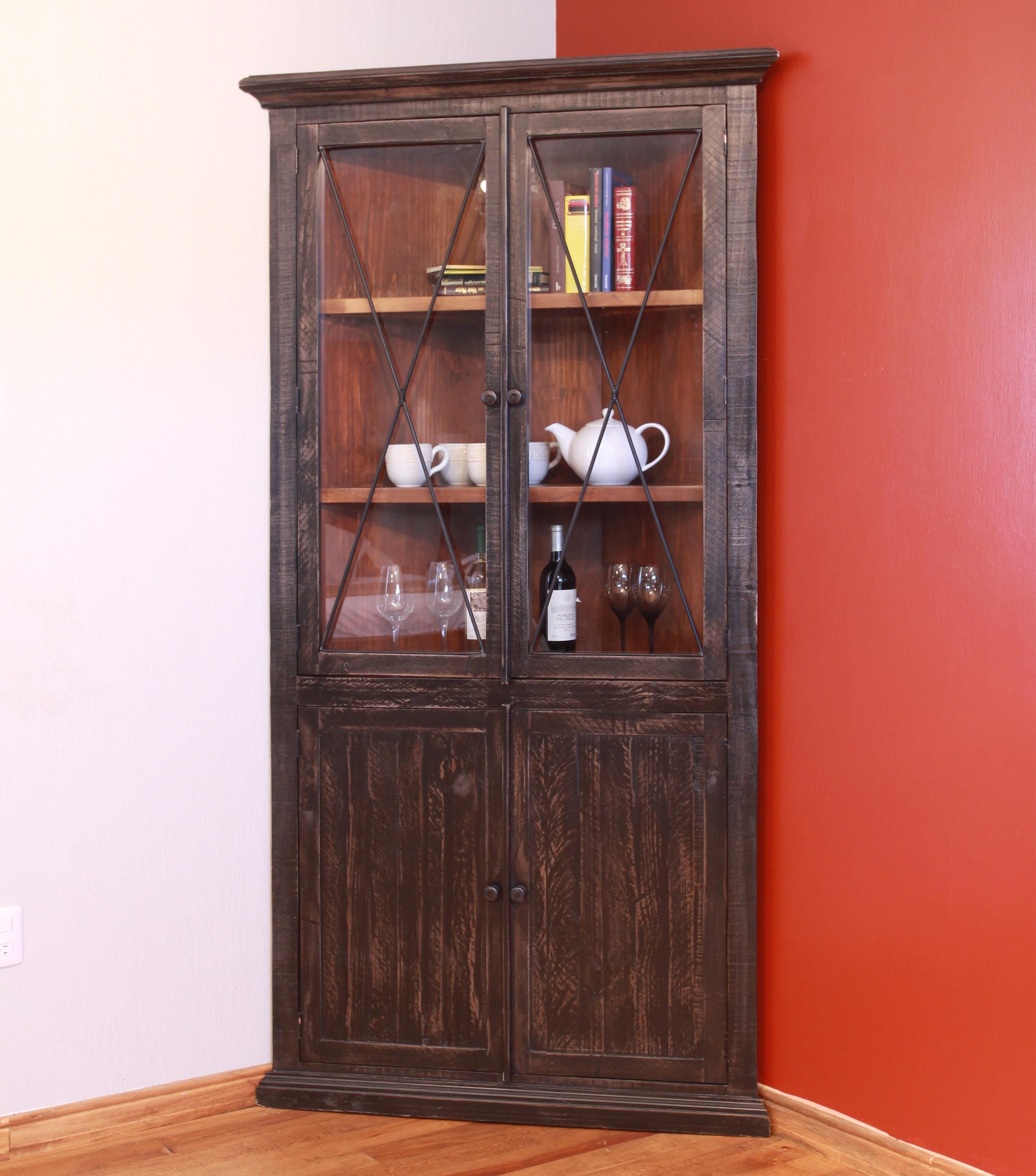 Artisan Home By International Furniture Vintage Corner Cabinet