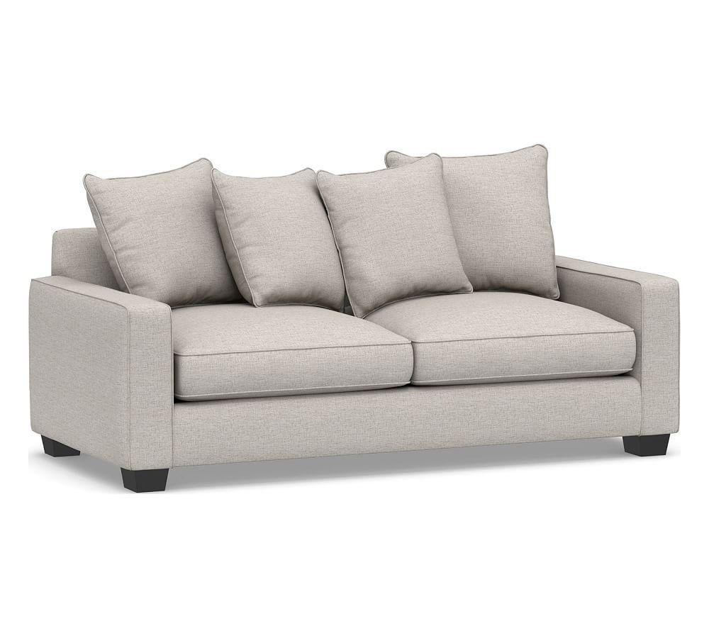 Pb Comfort Square Arm Upholstered Sleeper Sofa Ter Back