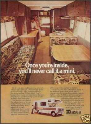 1976 Itasca 25' Motor Home~Camper Ad w/ Interior View | RV