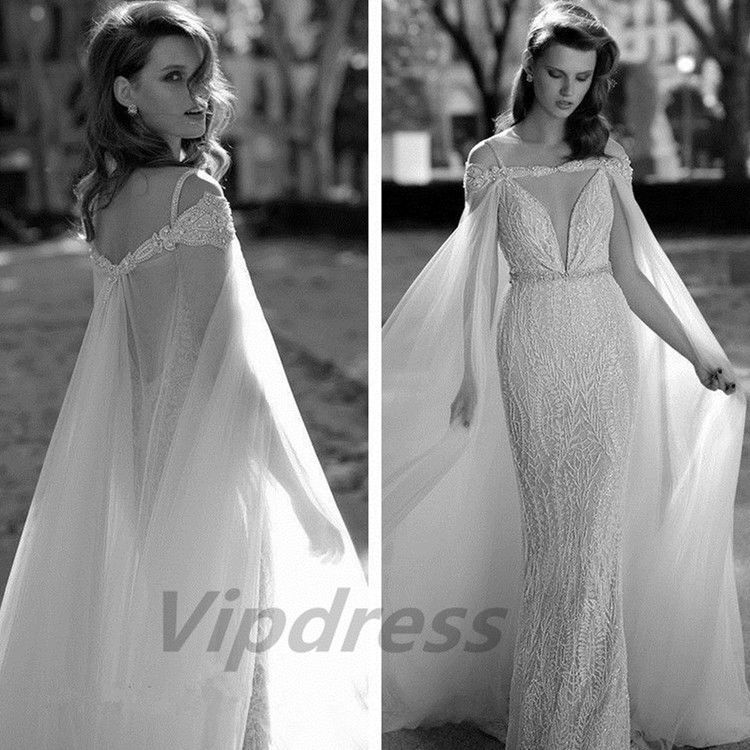 Beading Long Wedding Jacket Cloaks Bolero Bridal Cape Lace Sheer