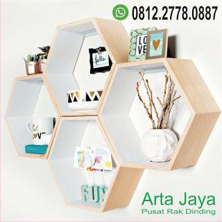 pusat rak dinding kayu minimalis termurah   dinding kayu