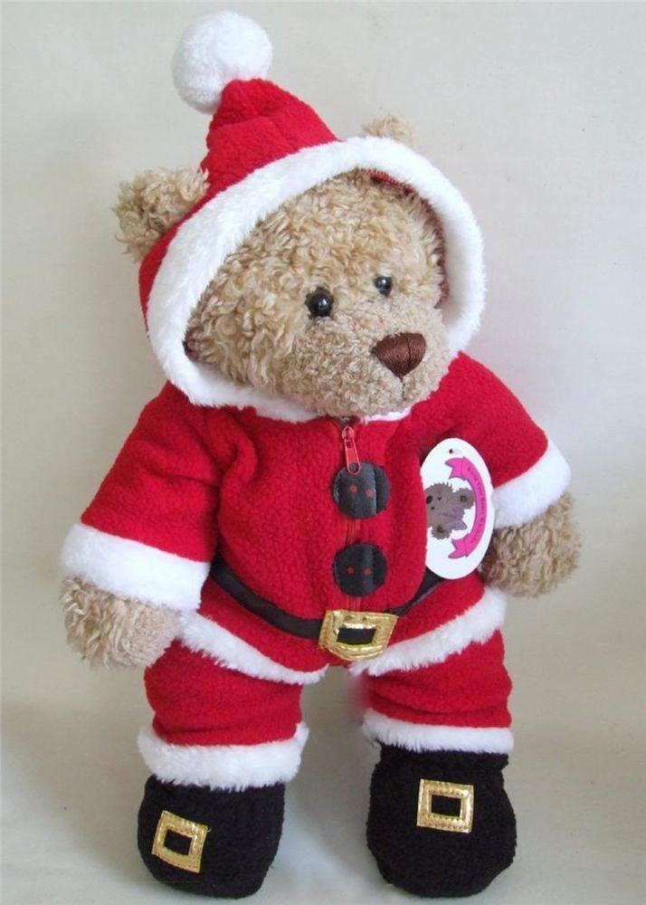Santa Onesie Christmas Teddy Bear Clothes fit 15-16in Build a Bear Teddies  - our dotty dog's fun Christmas outfit! - Santa Onesie Christmas Teddy Bear Clothes Fit 15-16in Build A Bear