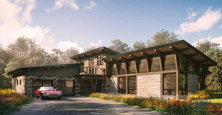Kirkwood Timber Home Rendering Timber House Log Home Floor Plans Timber Frame Home Plans