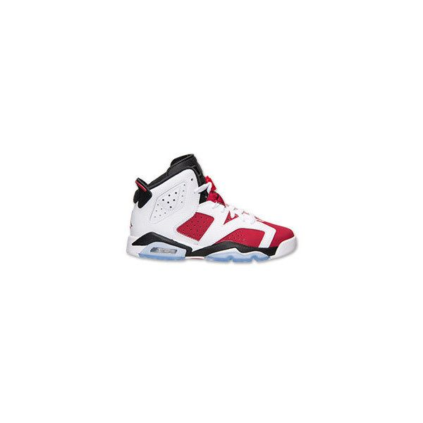 f74384e73e6f4c Boys Grade School Air Jordan Retro 6 Basketball Shoes ( 14) ❤ liked on Polyvore  featuring shoes