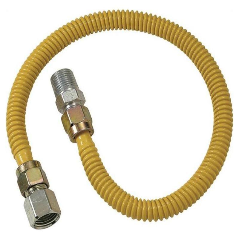 Brass Craft Cssd54 12 Gas Appliance Connector 12 X1 2 X3 8 Gas Dryer Gas Fireplace Logs