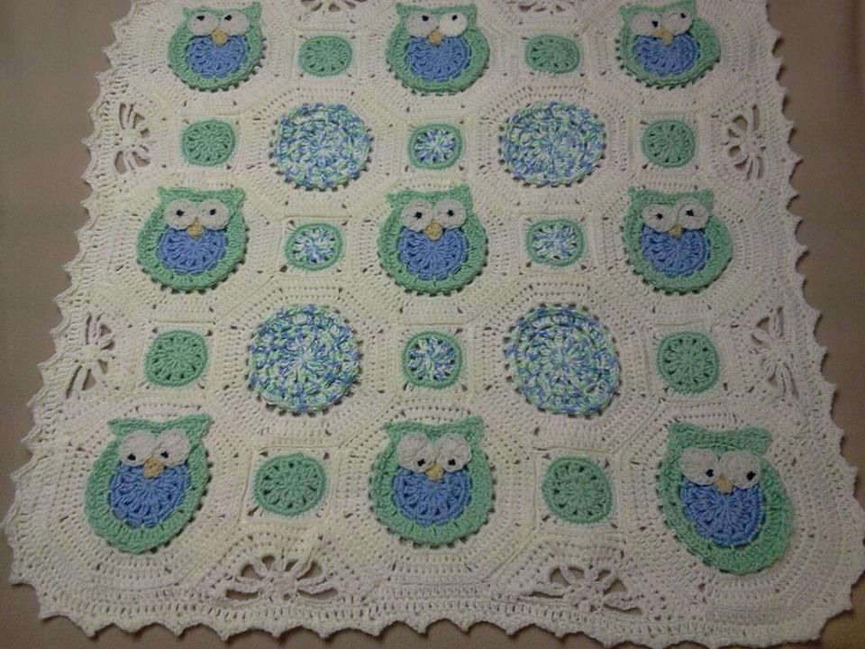 Owl Obsession Crocheting Patterns Owl And Blanket