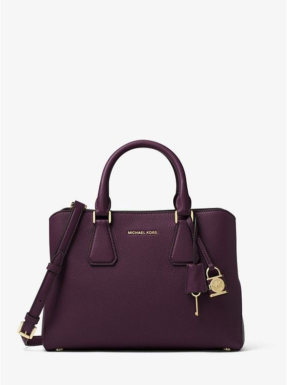 5caf965ee963 Camille Leather Satchel - COLOR DAMSON | Gift ideas for Sarah in ...