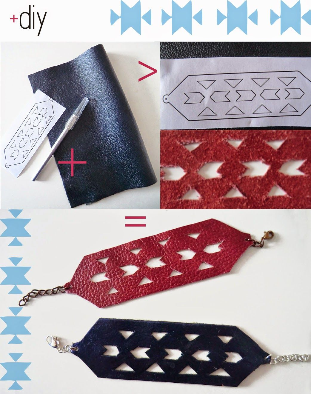 ID+DIY • Cut out leather bracelet • All rights reserved ID+DIY 2014 ©
