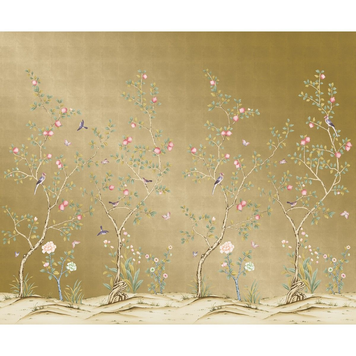 CHINOISERIE Pomegranate Metallic Gold THAT'S TEMPORARY