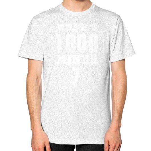 Whats minus 7 Unisex T-Shirt (on man)