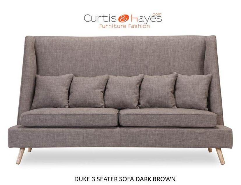 Designer Duke 2 Seater Sofa Dark Brown Only At Curtisandhayes