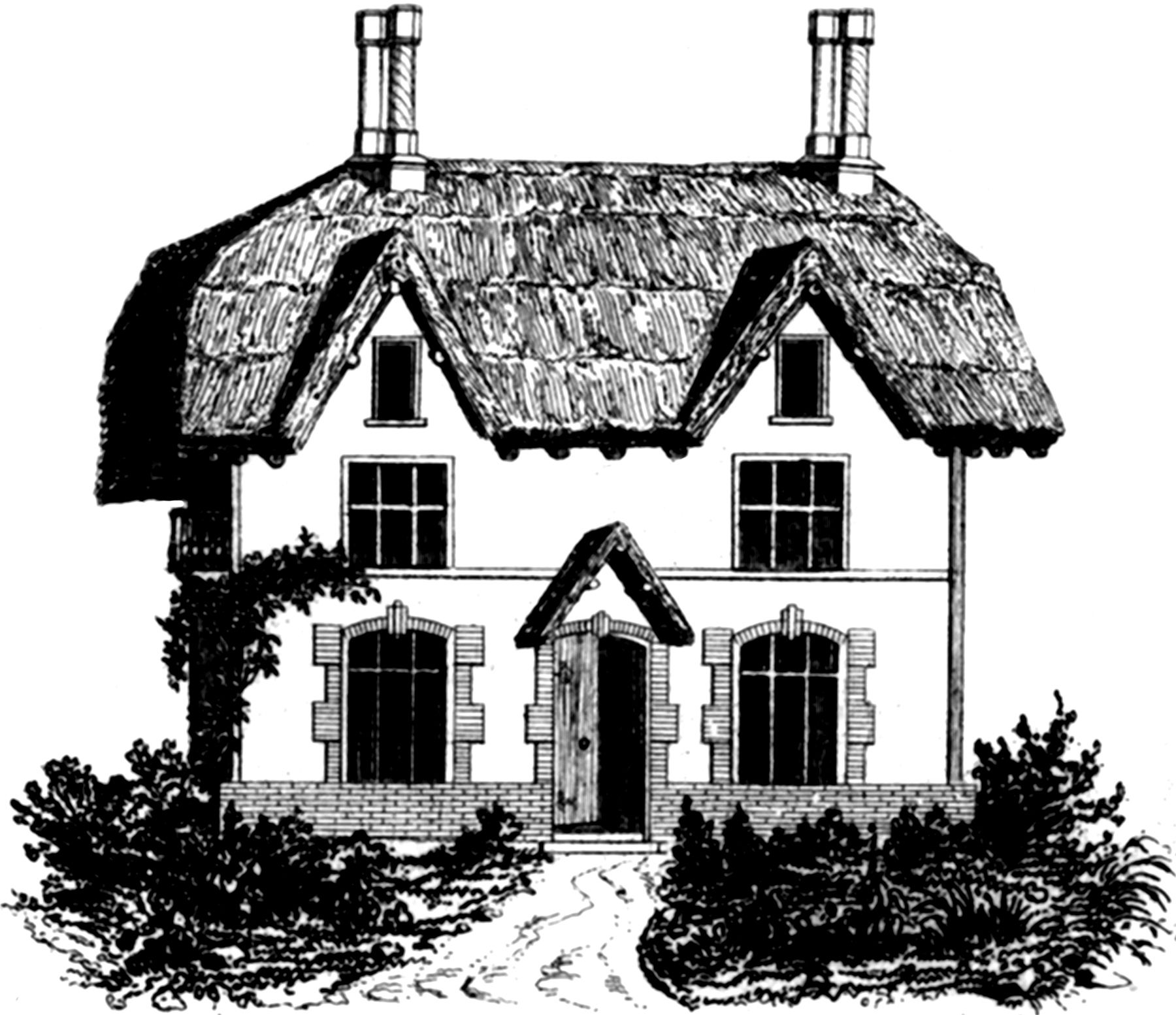 35+ Roof Clipart Black And White