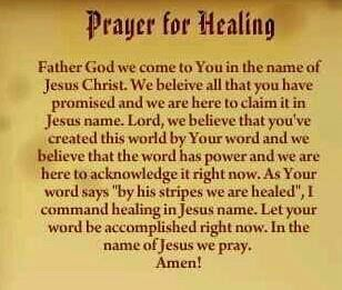 Prayers for Your Sick Mother | touch and agree with you, that you are HEALED IN JESUS NAME ...
