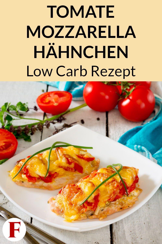 Tomate Mozzarella Hähnchen aus dem Ofen - Low Carb Rezept zum Abnehmen