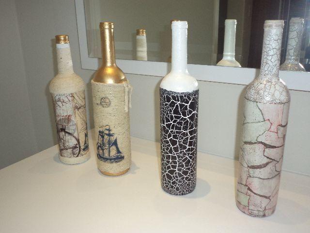 artesanato garrafa de vidro reciclagem3 criar Garrafas decoradas, Garrafas de vidro e  # Decoracao Com Tampa De Vidro