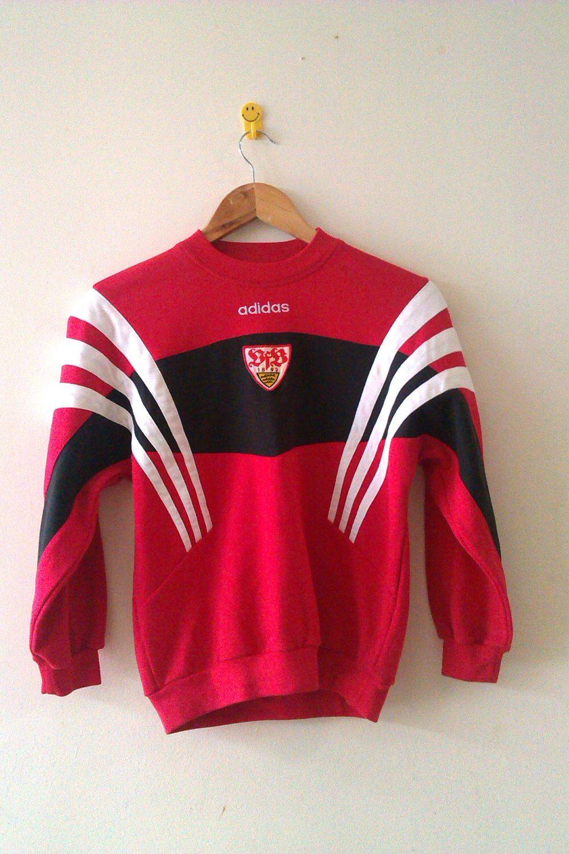 Vintage Rare Vfb Stuttgart Men 39 S Adidas Sweaters Sweatshirt Adidas Sweater Sweatshirts Adidas Men