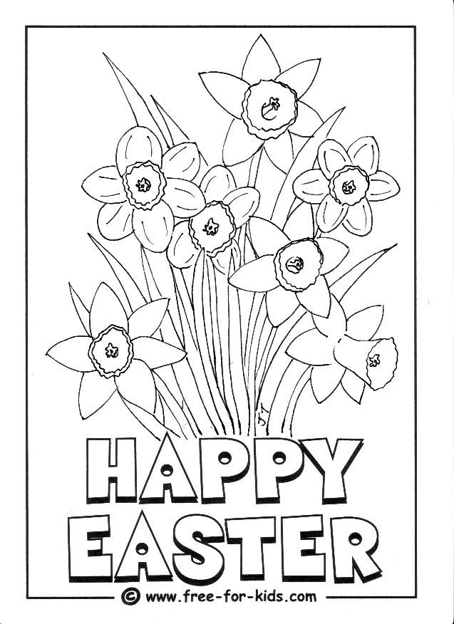 Daffodils Colouring Picture Easter Coloring Pages Spring