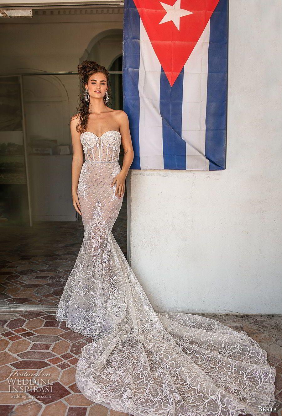 Berta Spring 2019 Wedding Dresses Miami Bridal Collection Wedding Inspirasi Miami Wedding Dress Wedding Dresses Mermaid Sweetheart Wedding Dresses [ 1326 x 900 Pixel ]