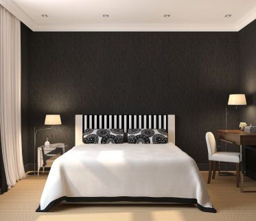 Pictures Of Painted Bedrooms modern master bedroom with solid black painted walls. | ideas for