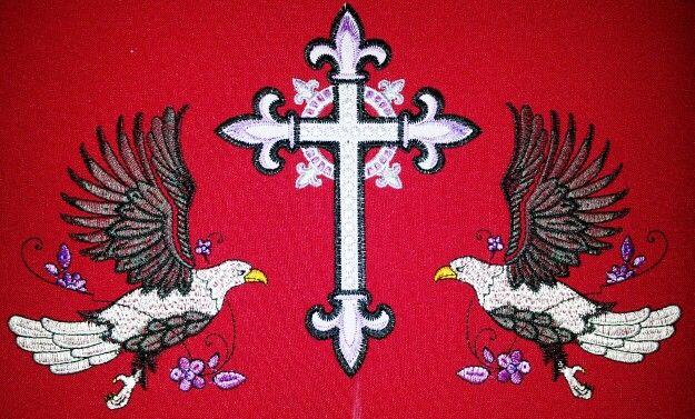 Red eagel design...