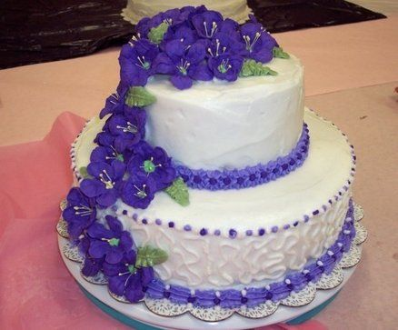 Purple  Passion wedding cake
