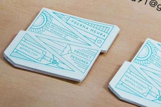 35 Creative and Uniquely Shaped Business Cards Paper Pinterest