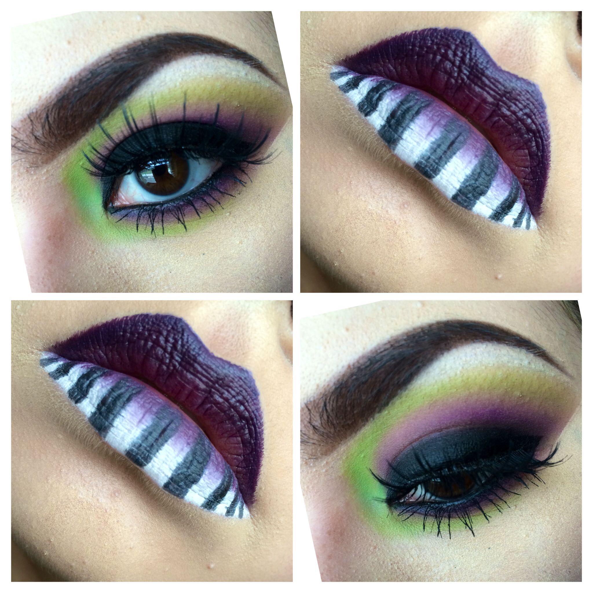 My Beetlejuice Inspired Makeup. #Makeup #MUA #Beetlejuice