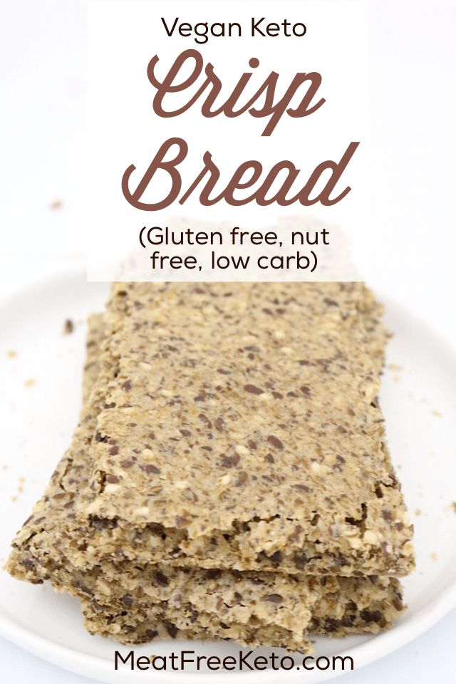 Low Carb Crispbread Vegan Gluten Free Nut Free Keto Friendly