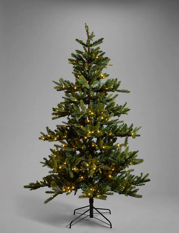 7ft Pre Lit Noble Fir Memory Branch Christmas Tree M S In 2020 Christmas Tree Noble Fir Christmas Tree Christmas Offers