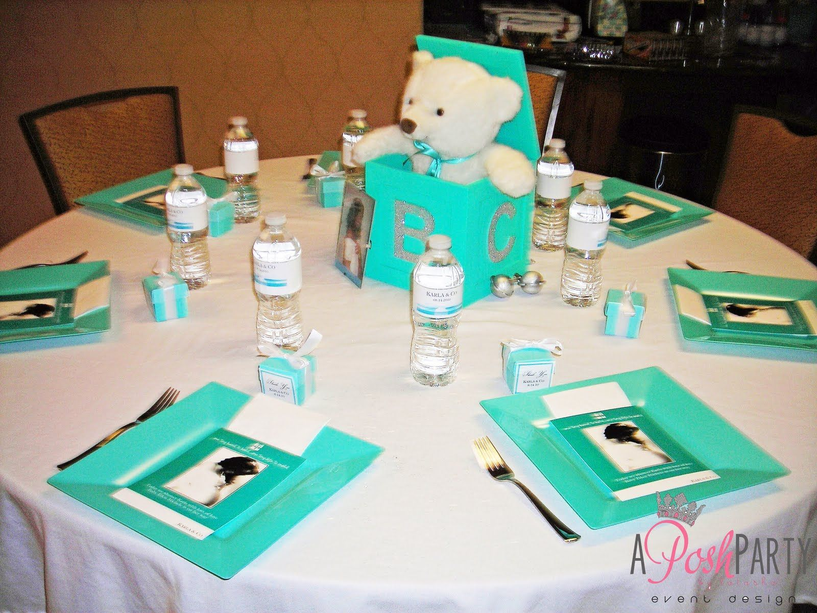 tiffany & Co baby shower party decorations