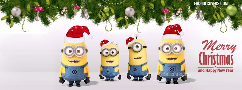minions christmas facebook covers, minions wishing happy ...