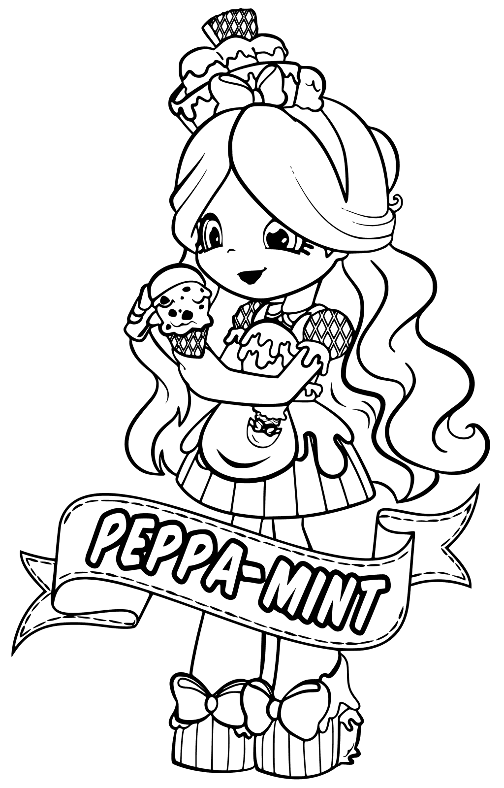 Shopkins Coloring Pages Peppa Mint
