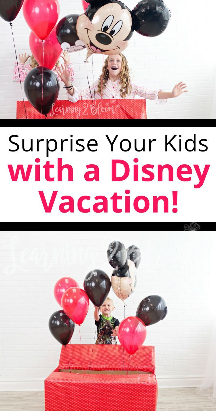 How to Surprise Kids with a Trip to Disneyland | Surprise ...