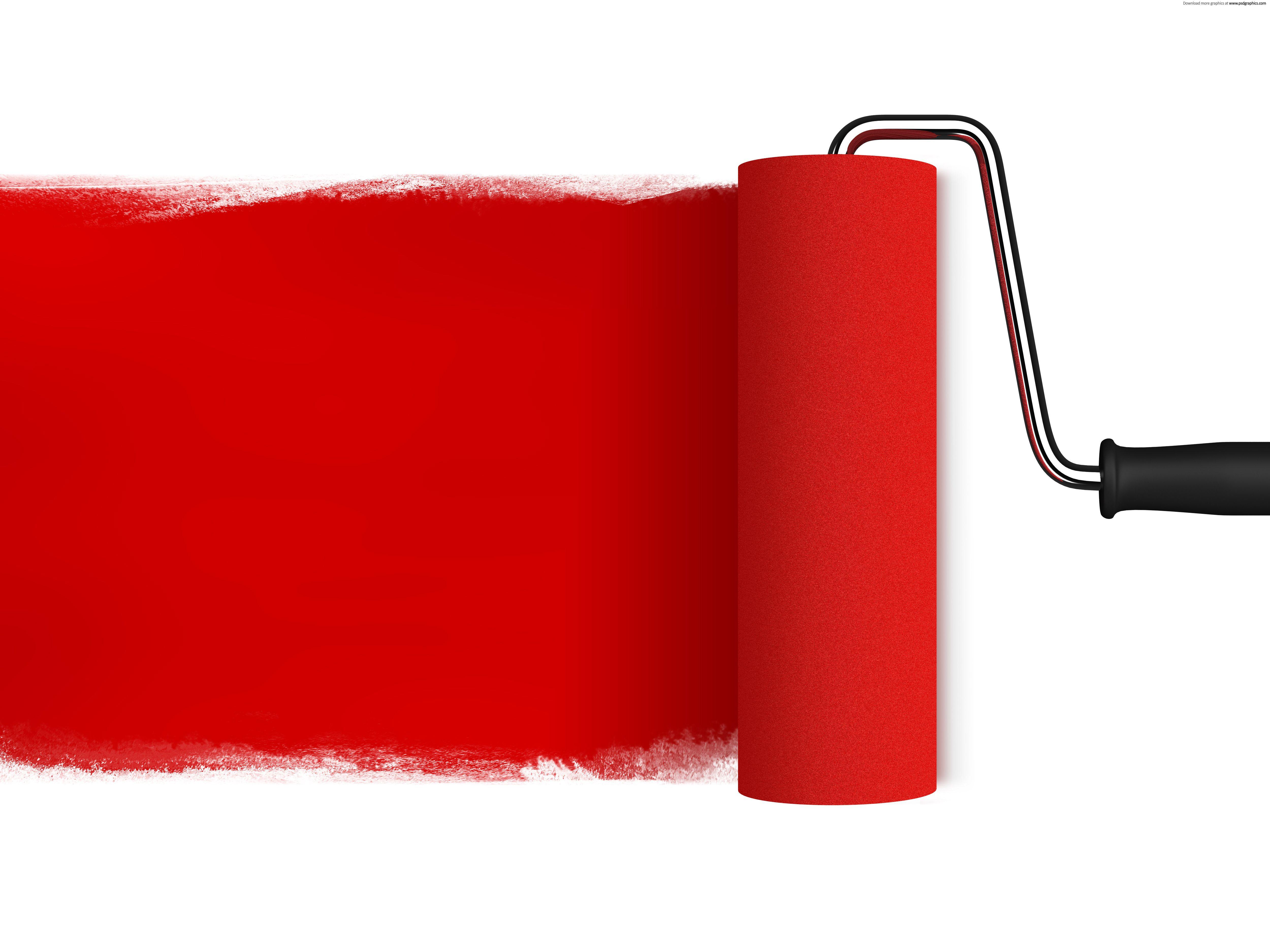 Red Paint Roller Red Paint Red Wall Paint Paint Roller
