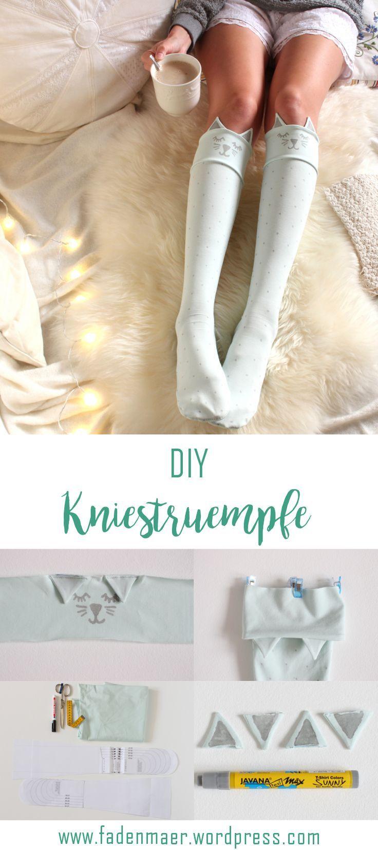 DIY: Kniestrümpfe ganz einfach selber nähen #diyclothes