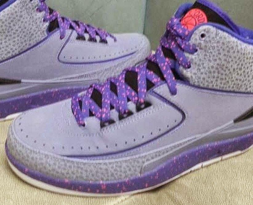 finest selection 37199 e399a THE SNEAKER ADDICT  2014 Air Jordan 2 Retro Grey Purple Infrared Sneak.