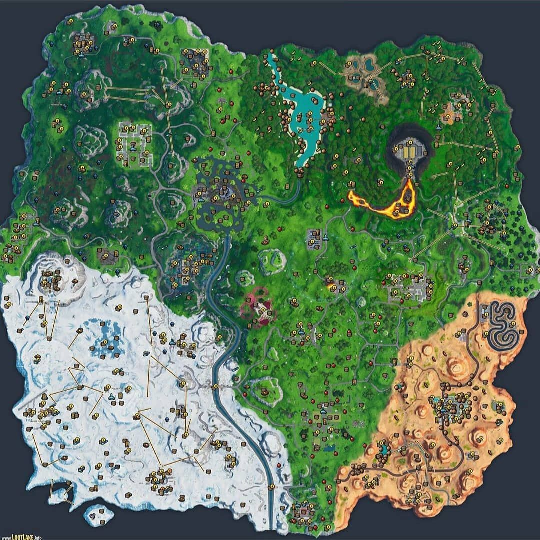 This Is The Loot Spawns For The Current Fortnite Map Follow