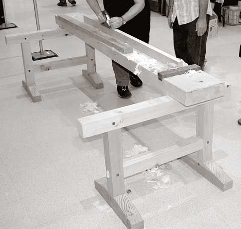 A Japanese Workbench Woodworking With Japanese Tools Pinterest