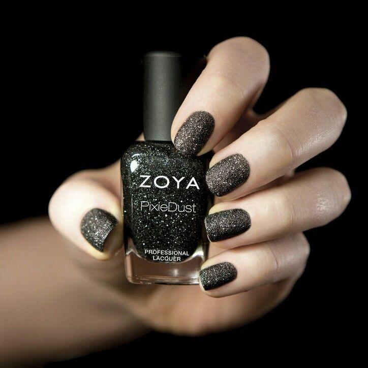 Matte black glitter   Nails   Pinterest   Black glitter