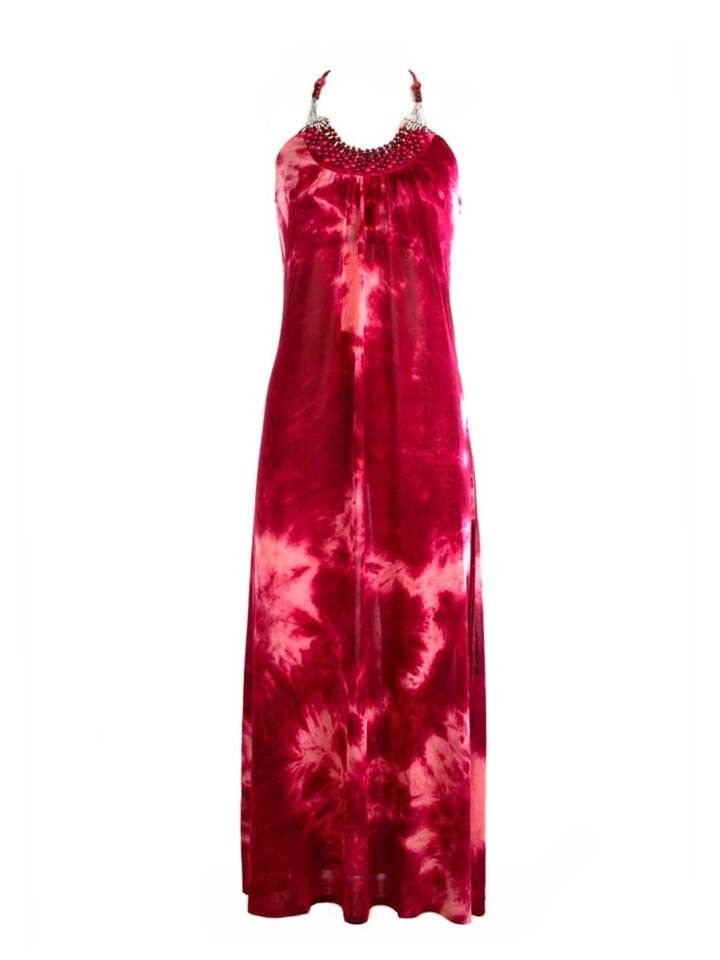 Tie Dye Beaded Maxi Dress