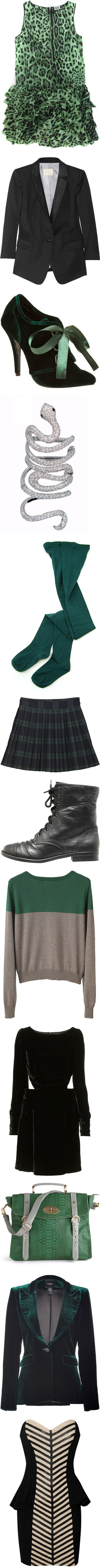 """A Slytherin's Closet"" by youremycupoftea ❤ liked on Polyvore"