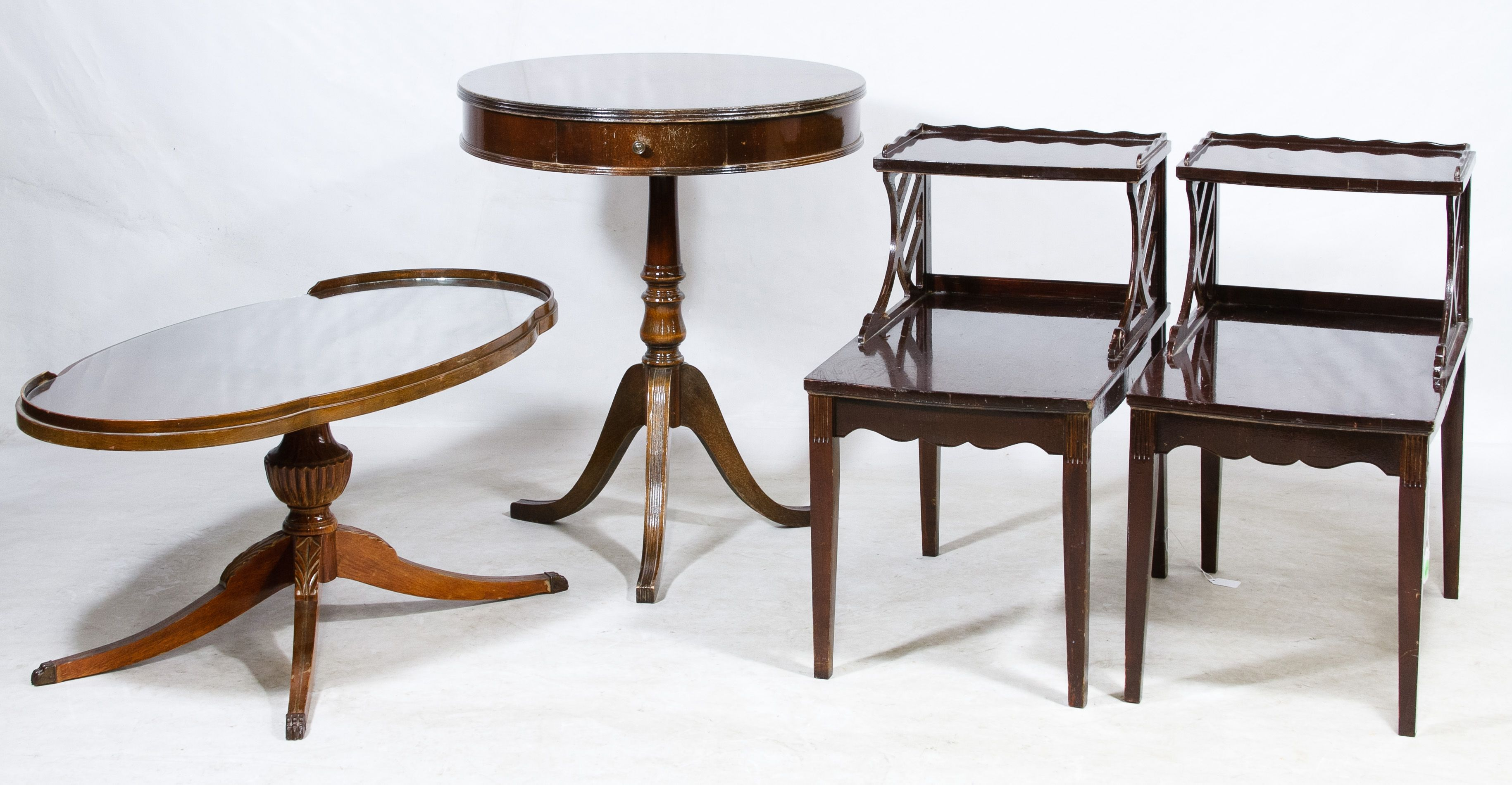 Lot 410 Mahogany Small Table Assortment Including a Mersman 7172
