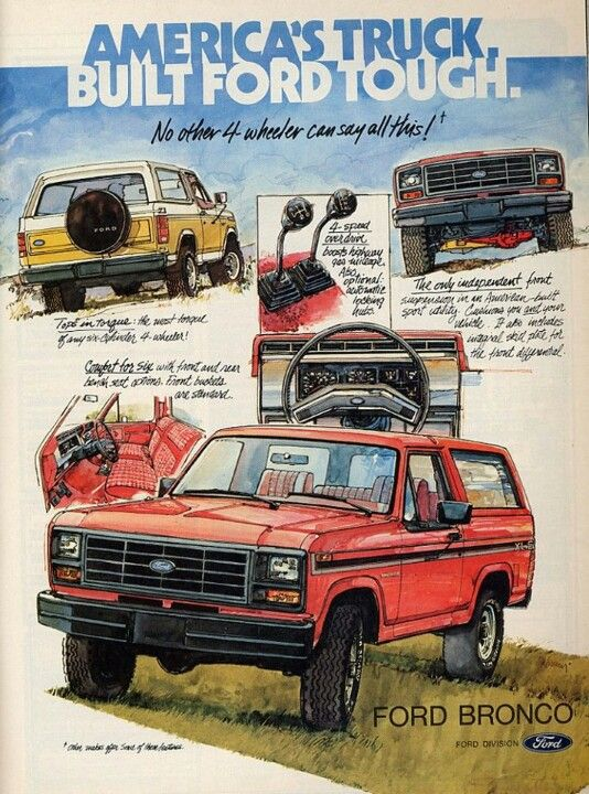 Vintage Ford Bronco Ad Always Wanted One Of These Ford