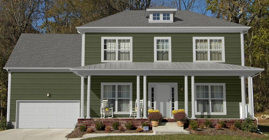 Sage Siding And Red Colors Parkside Pine Dark Green