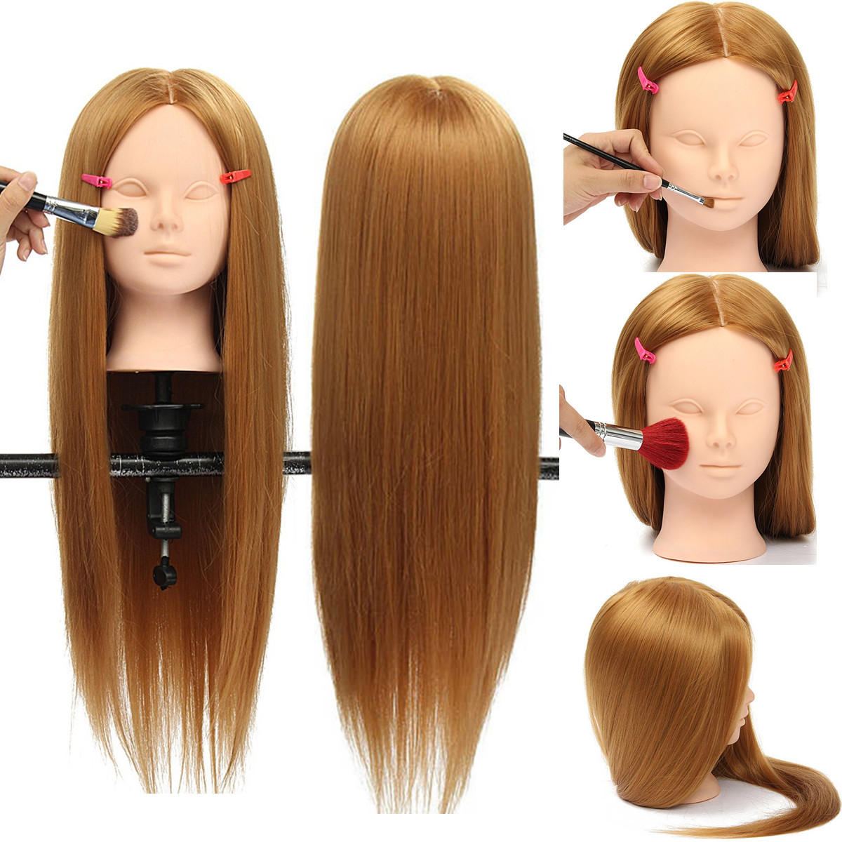 26 Long Hair Training Mannequin Head Model Hairdressing Makeup Practice With Clamp Holder Hair Care Tools From Health Beauty Hair On Banggood Com Hair Mannequin Long Hair Styles Makeup Practice Head
