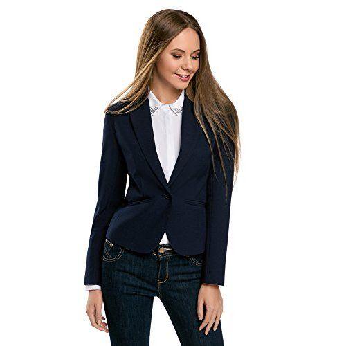 style top sélectionner pour l'original prix VOBAGA Femme Vestes Vintage Double Breasted Slim Blazer ...